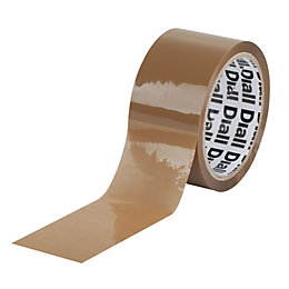 Diall Brown Packaging Tape (L)50M (W)50mm