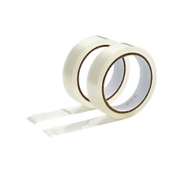 Diall Clear Office Tape (L)50M (W)24mm, Pack of