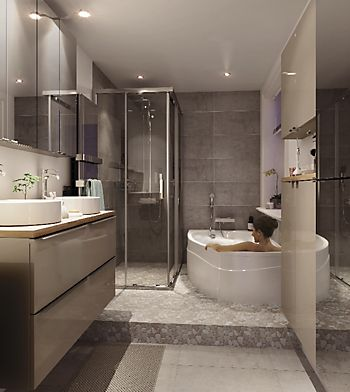 Cooke & Lewis Imandra Gloss Taupe Vanity basin unit