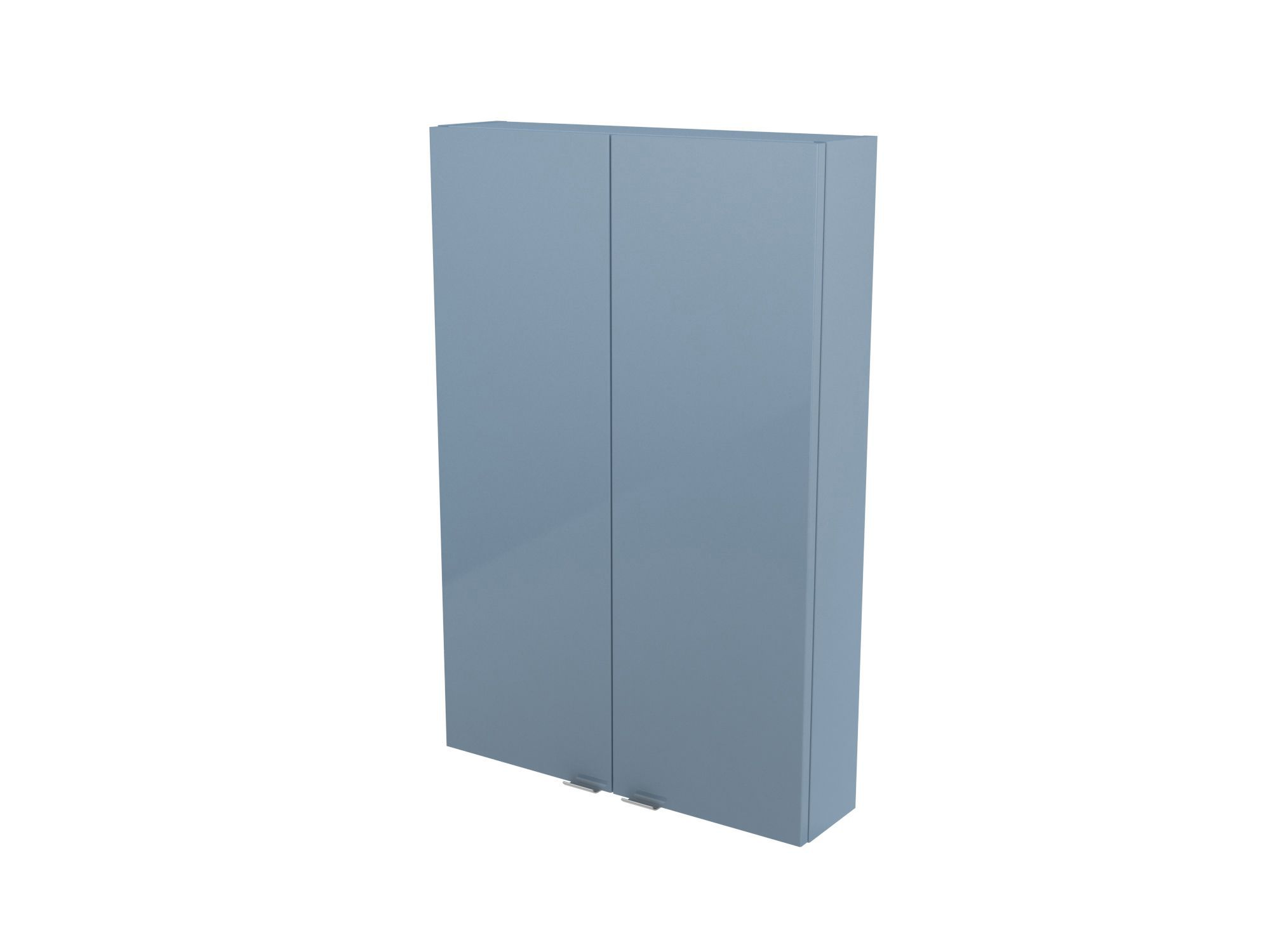 Cooke Amp Lewis Imandra Gloss Blue Wall Cabinet W 600mm