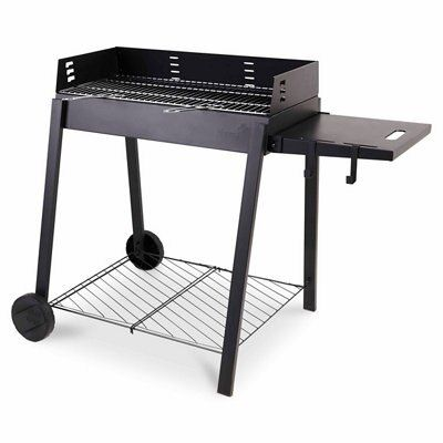 blooma longley charcoal rectangular barbecue departments diy at b q. Black Bedroom Furniture Sets. Home Design Ideas