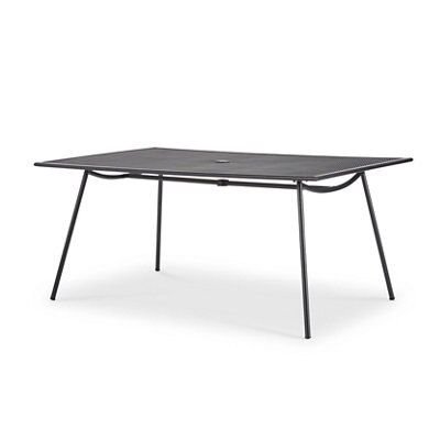 Adelaide Metal 6 Seater Dining Table Departments Diy