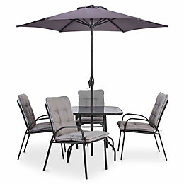 Cranbrook Metal 4 Seater Dining Set