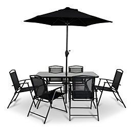 Bahama Metal 6 Seater Dining Set