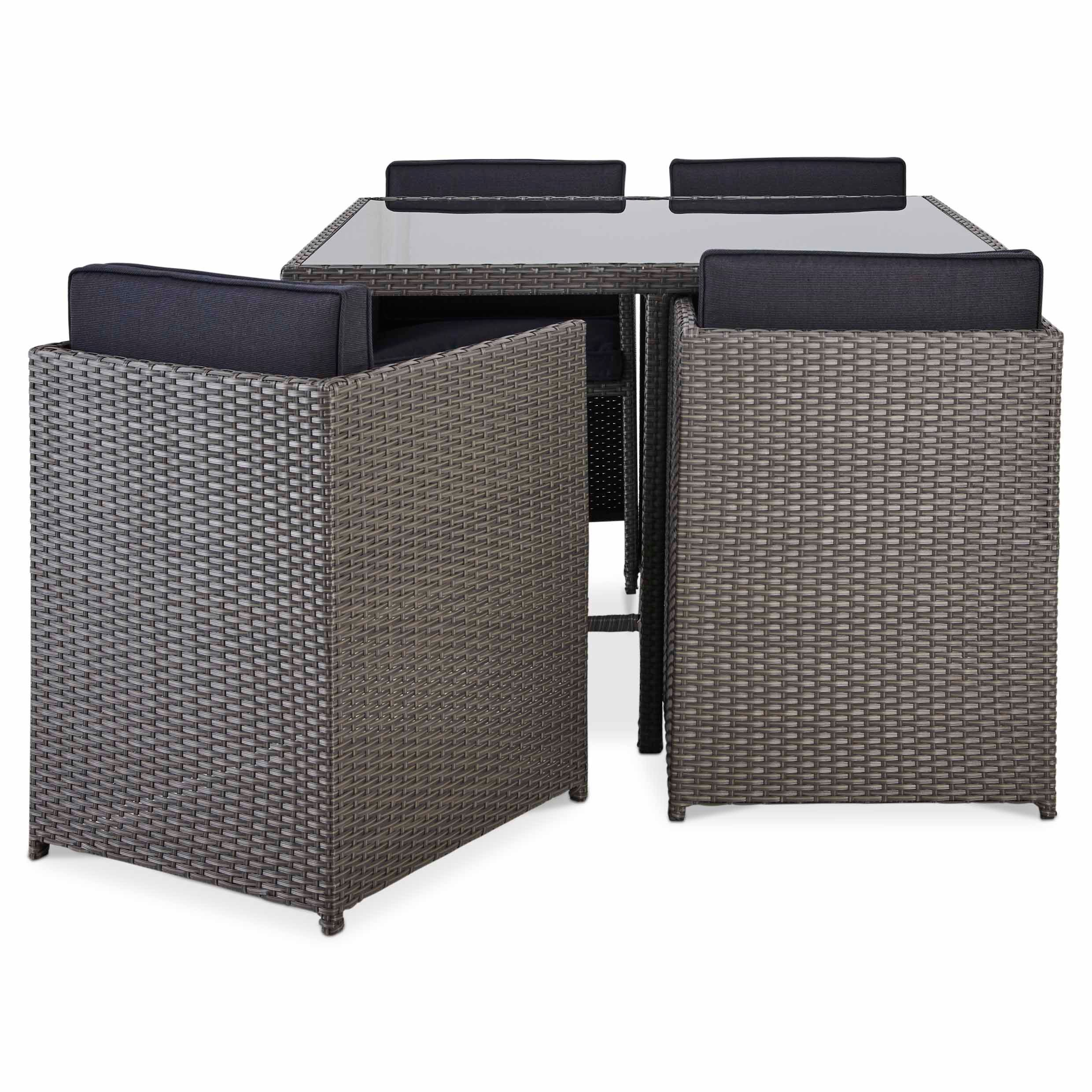 Karaya Rattan Effect 4 Seater Dining Set Departments