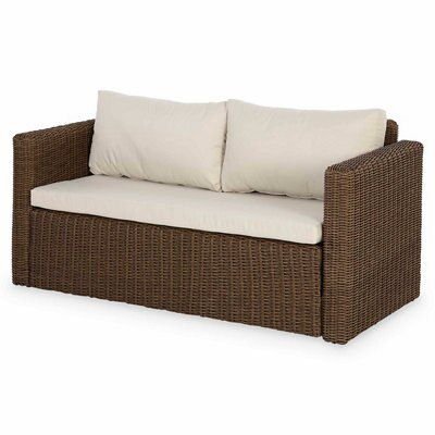 Soron Rattan Sofa Departments Diy At B Amp Q