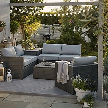 Sulana garden sofa range with outdoor lighting