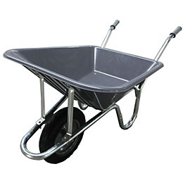 Verve Grey 90L Wheelbarrow