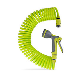 Verve Plastic Spiral Hosepipe Set (Dia)8mm (L)10M