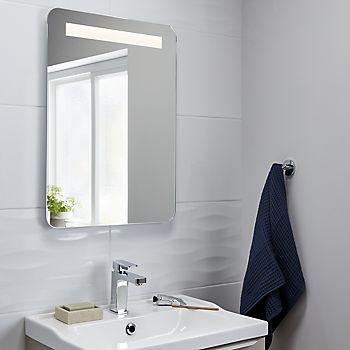 Cooke & Lewis Colwell Illuminated Rectangular Mirror