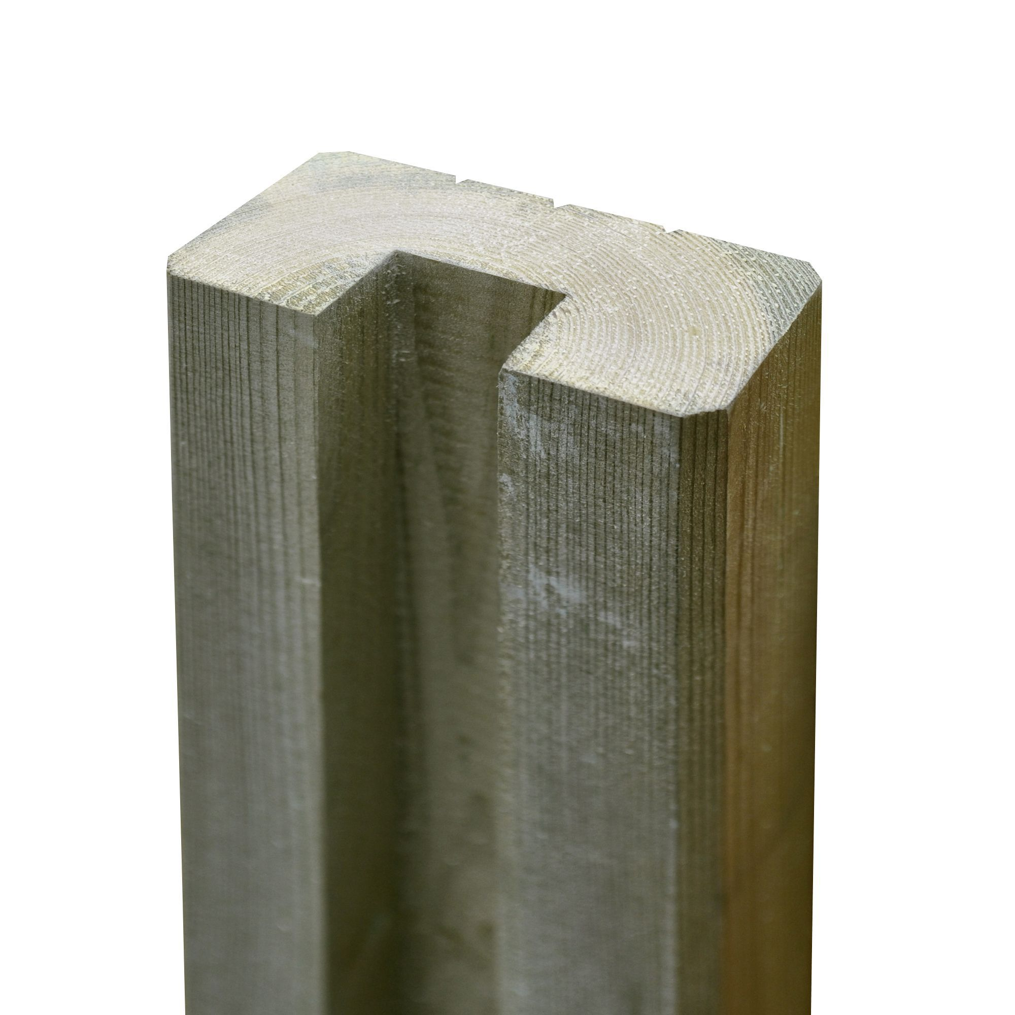 Blooma Neva Natural Wood Slotted Half Fence Post H 1 8m
