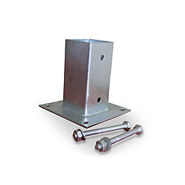 Blooma Galvanised Steel Post plate support (L)70mm (W)70mm