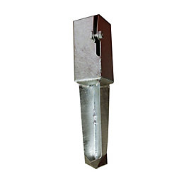 Blooma Galvanised Steel Post Anchor support (L)70mm (W)70mm
