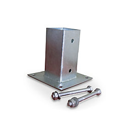 Blooma Steel Post plate support (L)90mm (W)90mm