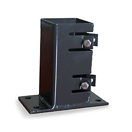 Blooma Steel Fence post support plate (L)70mm (W)70mm
