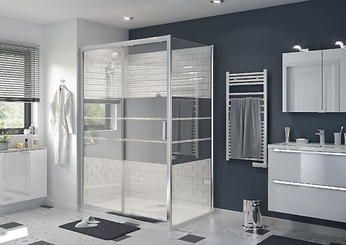 Beloya Shower door with 2 panel sliding door & Mirror Glass