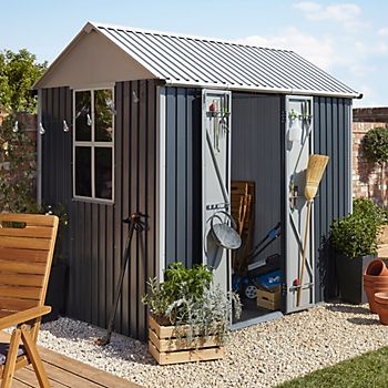 2.5X1.7 Indus Apex Metal Shed