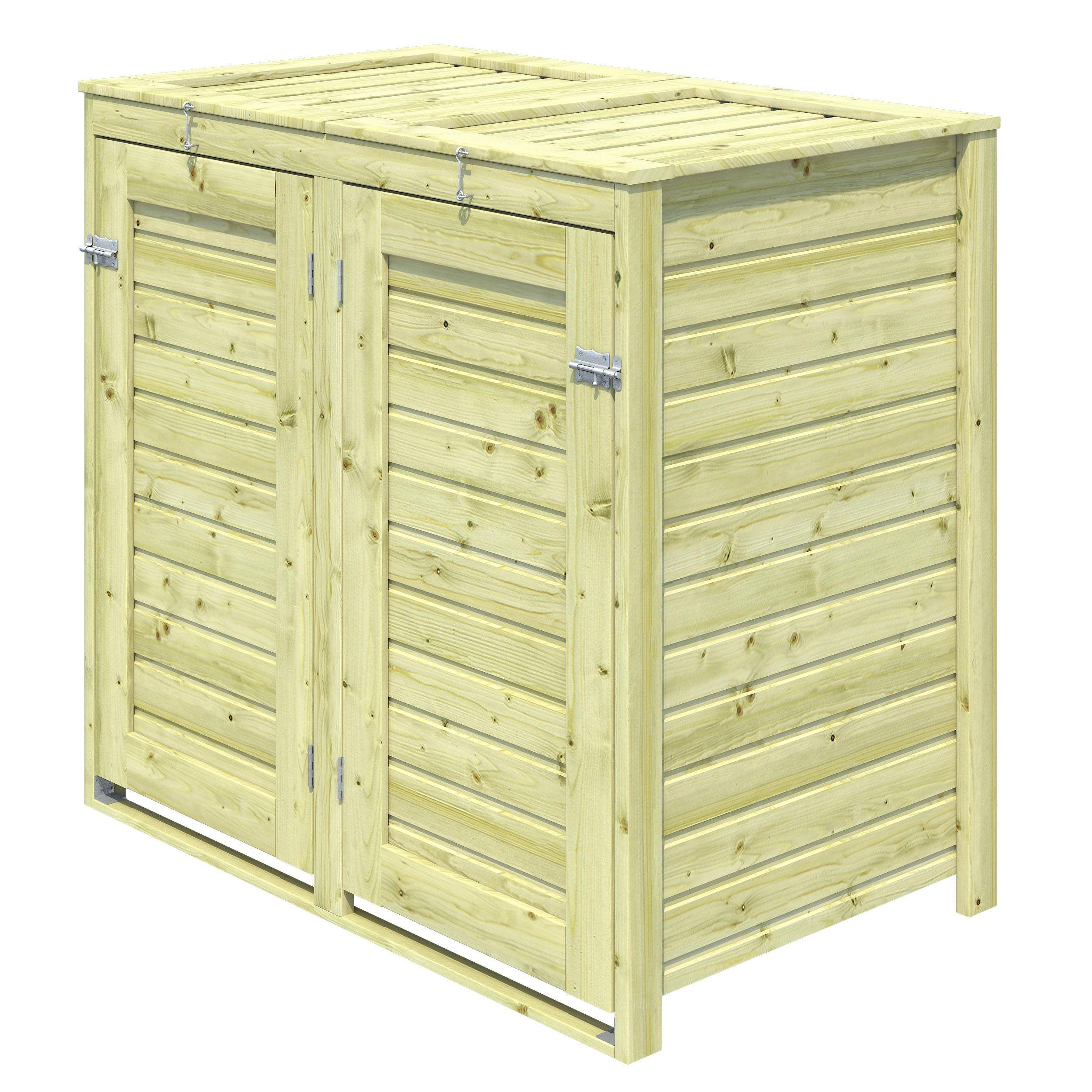 Bermejo Wooden Wheelie Bin Departments Tradepoint