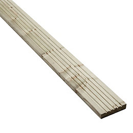 Blooma Madeira Value Softwood Deck board (T)24mm (W)120mm