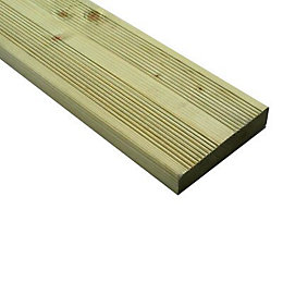 Nevou Premium Softwood Deck board (T)28mm (W)144mm (L)2400mm
