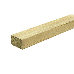 Green Pine Wooden joist (L)2.4m (W)38mm