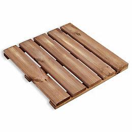 Blooma Brantas Brown Pine Deck tile (T)40mm (W)500mm