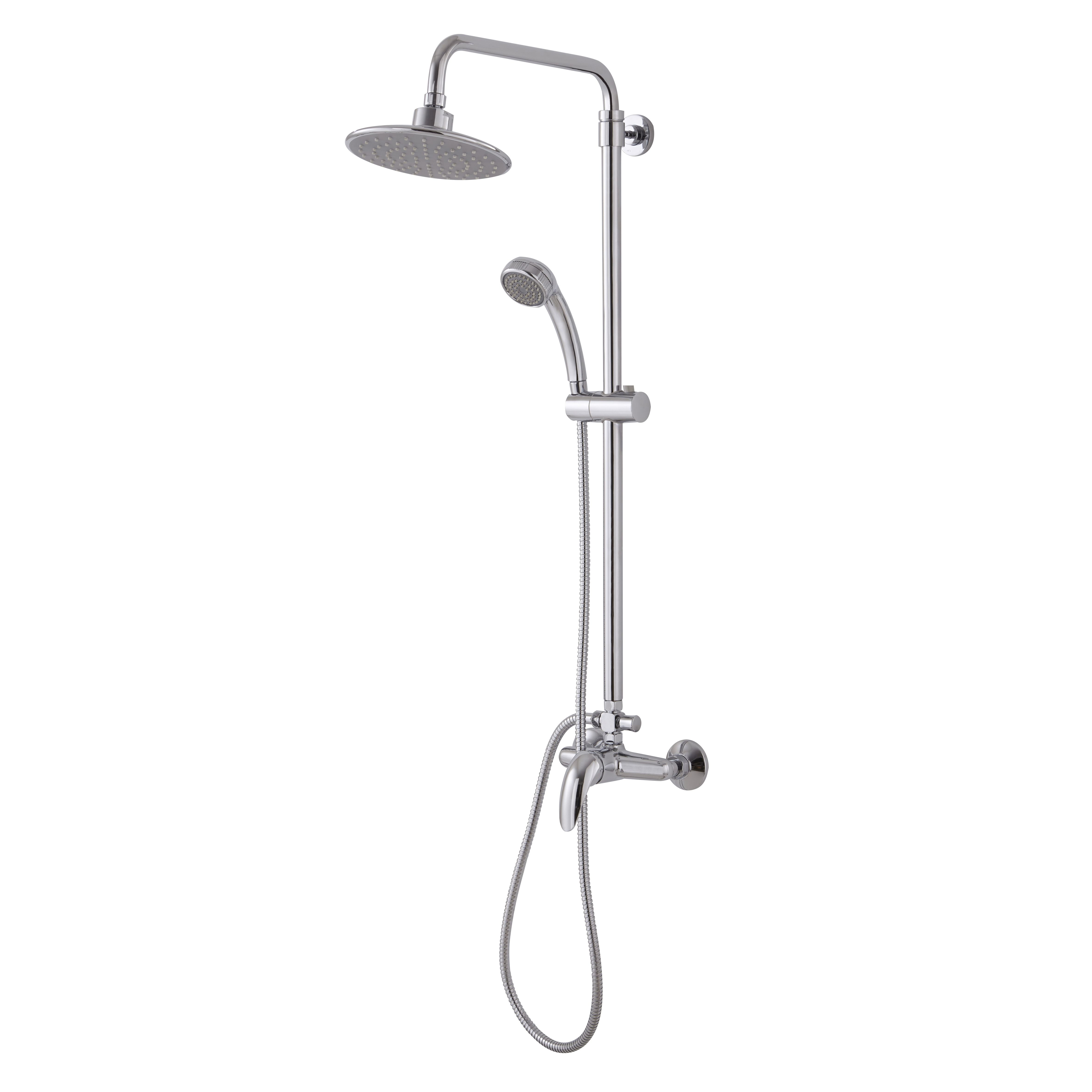 Maina Chrome Effect Single Lever Mixer Shower with Diverter ...