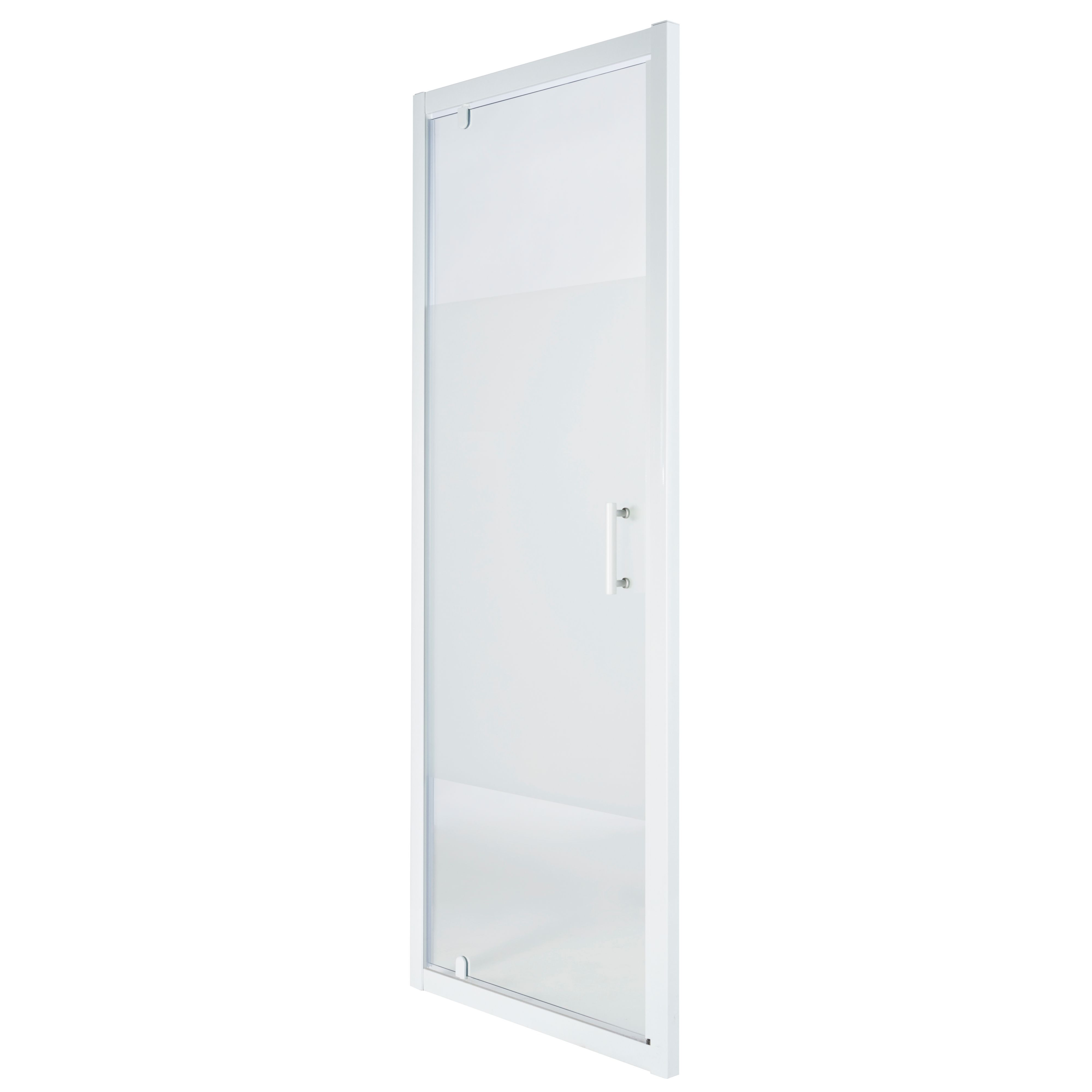 Cooke Lewis Onega Shower Door With Pivot Door Frosted Effect Glass W 760mm Departments Diy At B Q