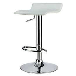 Dante White & Chrome effect Bar stool (H)860mm