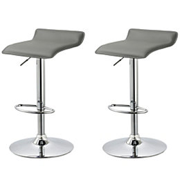Dante Grey & Chrome Effect Bar Stool (H)850mm