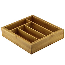 Cooke & Lewis Bamboo Cutlery tray