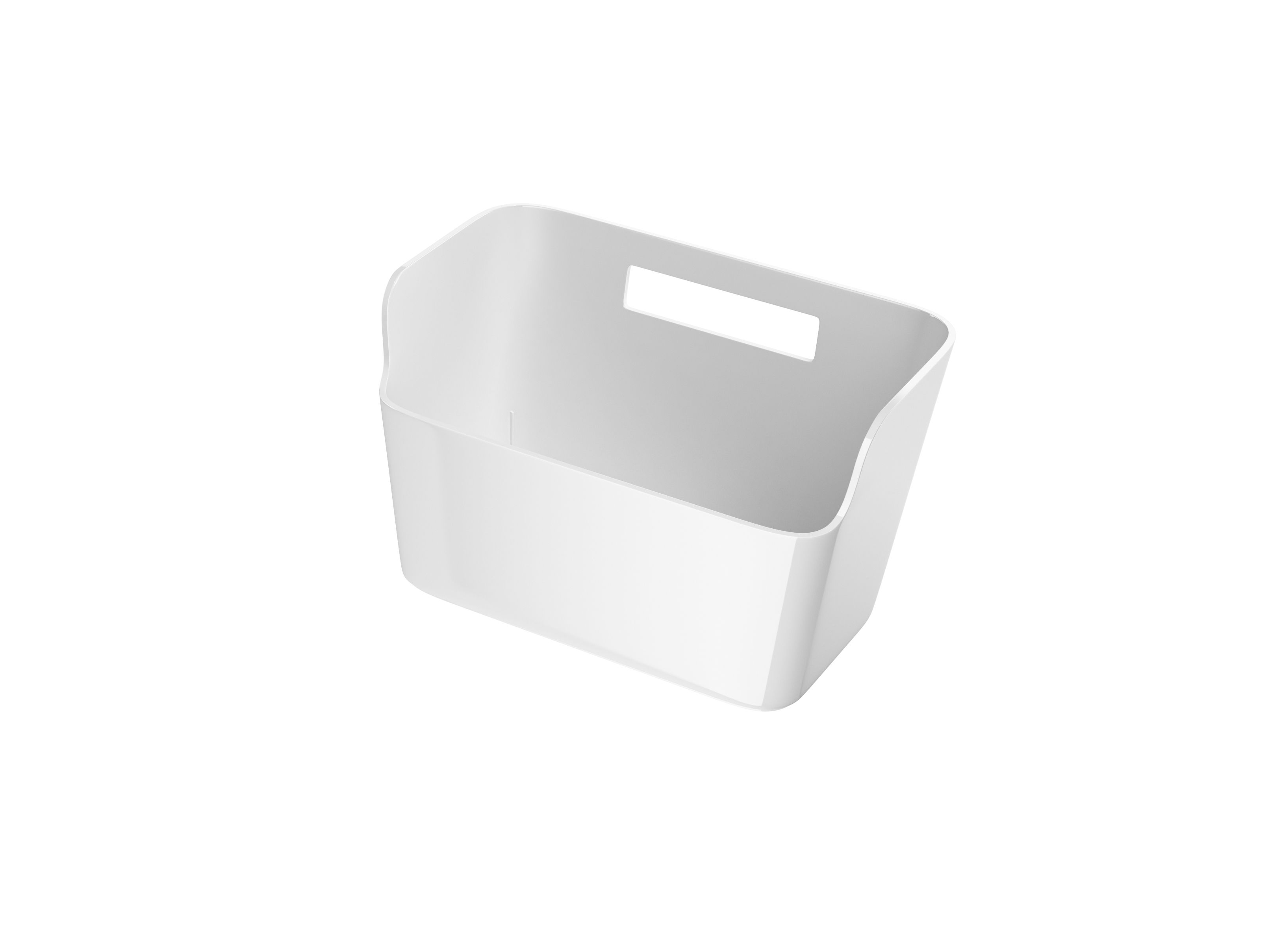 Cooke Lewis Praa White Bathroom Storage Box With Hook Departments Diy At B Q