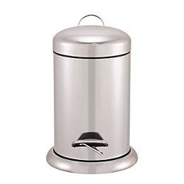 Cooke & Lewis Korana Stainless steel Round Bathroom