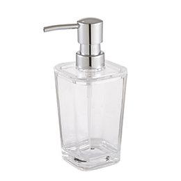 Cooke & Lewis Urmia Transparent Gloss Soap Dispenser