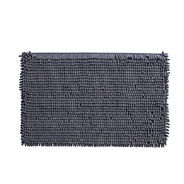 Cooke & Lewis Abava Anthracite Polyester Bath Mat