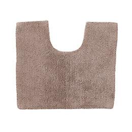 Cooke & Lewis Diani Taupe Tufty Cotton Anti-Slip