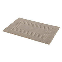 Cooke & Lewis Palmi Greige Cotton Bath Mat