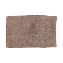 Cooke & Lewis Diani Taupe Tufty Cotton Anti-Slip