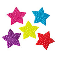 Cooke & Lewis Bhama Multicolour Star PVC Anti-slip Bath mat pieces (L)120mm (W)120mm