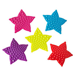 Cooke & Lewis Bhama Multicolour Star PVC Anti-Slip