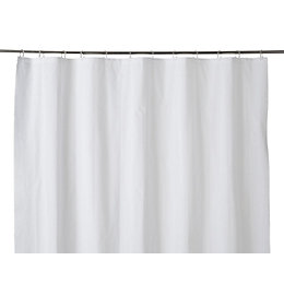 Cooke & Lewis Palmi White Shower Curtain (L)1800