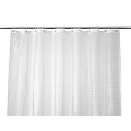 Cooke & Lewis Lacha Clear Waffle Shower curtain