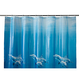 Cooke & Lewis Andrano Multicolour Seafloor Shower curtain