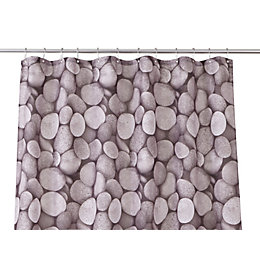 Cooke & Lewis Lunda Multicolour Pebble Shower Curtain