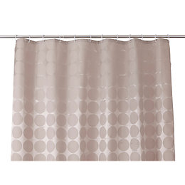 Cooke & Lewis Napo Taupe Dots Shower Curtain
