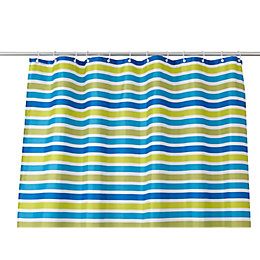 Cooke & Lewis Navesti Multicolour Stripe Shower Curtain