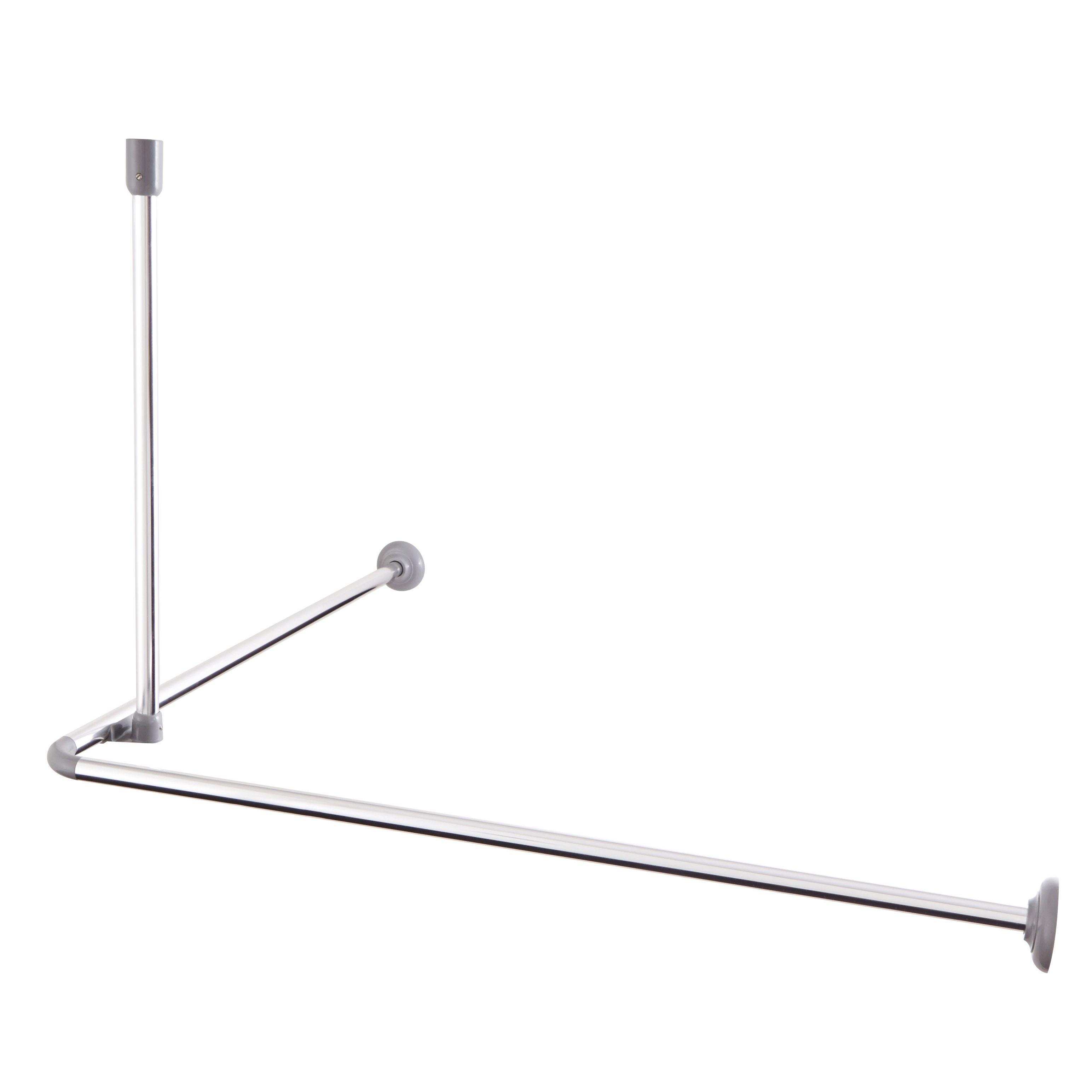 Cooke Lewis Nira Chrome Effect Angled Shower Rod L 0 8m Departments Diy At B Q