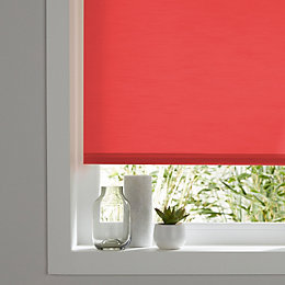 Colours Halo Corded Red Roller blind (L)180 cm