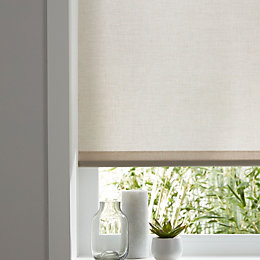Colours Halo Corded Natural Roller Blind (L)180 cm
