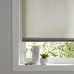 Colours Halo Corded Grey Roller blind (L)180 cm